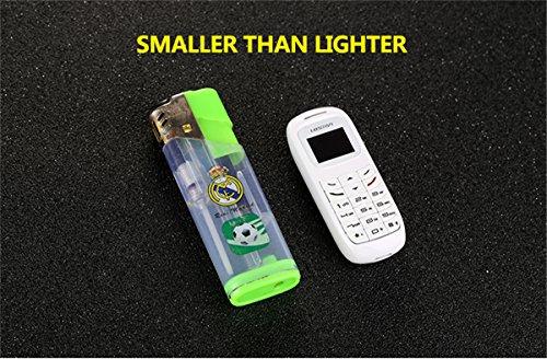 GTStar L8Star BM70 Mini bluetooth handset phone 0.66 inch Unlocked Mini Mobile Phone Bluetooth Earphone Dialer Single SIM Card (Black-BM70) by GTstar (Image #5)
