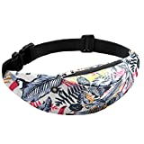 Todaies Colorful Waterproof Waist Packs, Travel Fanny Pack Mobile Phone Waist Pack Belt Bag (E, As Shown)
