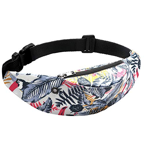 Simayixx Waist Packs with Cell Phone Pouch Fanny Pack Slim Soft Polyester Water Resistant Sport Waist Bag for Man Women
