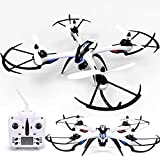 KiiToys Tarantula X6 Quad Copter with HD Camera 720p - 6 Axis Gyroscope - 4 Channels RC Radio Control - Long Lasting Battery - 3D Flip Roll - 2.4 ghz 300 ft Range