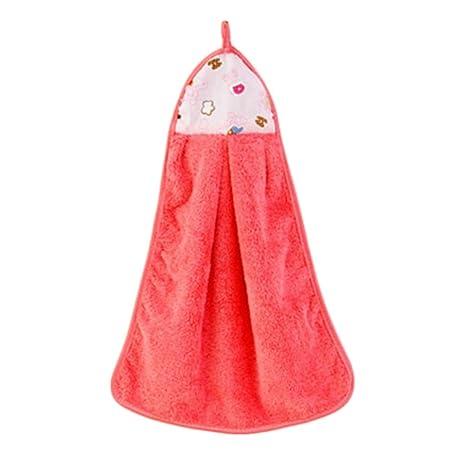 Toallas de TGLOE de Creative Lovely Cartoon Alta Calidad Colgante coral regla fuerte absorción toallas Rosy