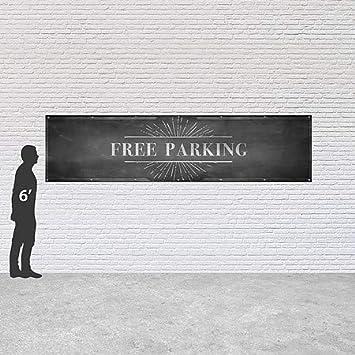 12x3 Chalk Burst Heavy-Duty Outdoor Vinyl Banner CGSignLab Free Parking