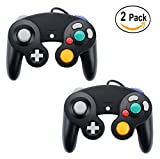 Ihoolee GameCube Controller, 2 Pack NGC Wired Controller for Wii Gamecube ( Black )