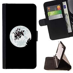 BullDog Case - FOR/Sony Xperia Z1 Compact D5503 / - / Funny Et Alien Moon /- Monedero de cuero de la PU Llevar cubierta de la caja con el ID Credit Card Slots Flip funda de cuer