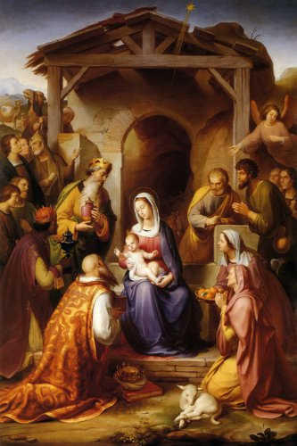 the nativity birth of christ jesus manger 1853 german by franz von