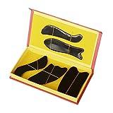 EQLEF® Natural Water Buffalo Horn Gua Sha Guasha Massage Tool Board (five pcs set - black)