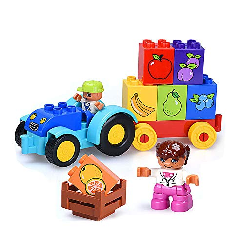 GRACEON Children's Enlightenment Building Blocks Toys | Big Particles Inserting Theme Scenes | Puzzle Boys 3-6 Years Old|Creativity| Imagination| Inspiration -