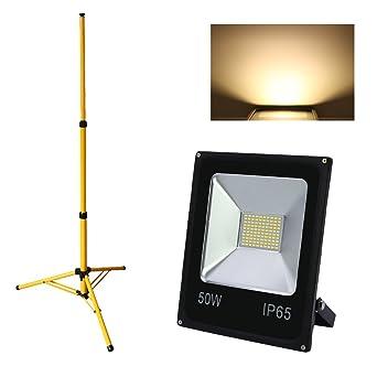 Hengda® 50W Blanco Cálido Foco LED Foco proyector + Teleskop ...