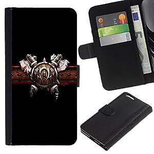 """Apple (5.5 inches!!!) iPhone 6+ Plus , la tarjeta de Crédito Slots PU Funda de cuero Monedero caso cubierta de piel ("""" Viking Belt Sword Attire Outfit Warrior Design"""")"""