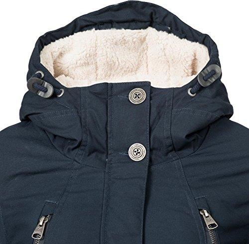 xl Foncé D'hiver Avec Bleu Pour Xs Manteau Couleurs Capuche Dame Elsa 5 Ragwear Rwq7COZZ