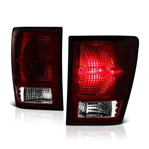 - VIPMOTOZ Smoke Red Lens OE-Style Tail Light Lamp Assembly For 2007-2010 Jeep Grand Cherokee, Driver & Passenger Side