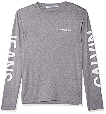Calvin Klein T-shirt for men in Grey Heather, Size:Small