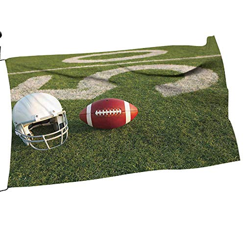 Printsonne Garden Flag Arbor Stand American Football and Helmet on The Field with The Fifty Yard Line in The Background Flower Yard Decor10 x -