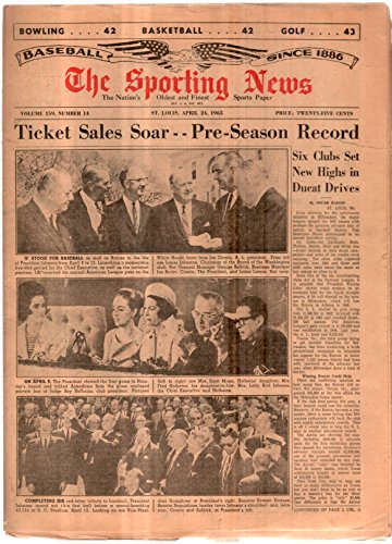 The Sporting News Newspaper Apr 24, 1965 Ticket Sales Soar - Pre-Season Record GOOD