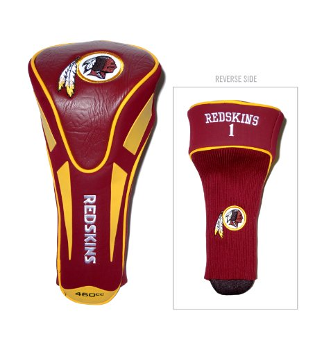(Team Golf NFL Washington Redskins Golf Club Single Apex Driver Headcover, Fits All Oversized Clubs, Truly Sleek Design)