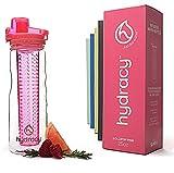Hydracy Infuser Water Bottle, 25oz Sport Bottle, Full Length Infusion Rod, Flip-Top