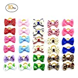 Sporting Style Pet's Fashion 30pcs/15 Pairs Pet Hair Bows with Rubber Bands-Dog Hair Accessories for Dogs and Cats