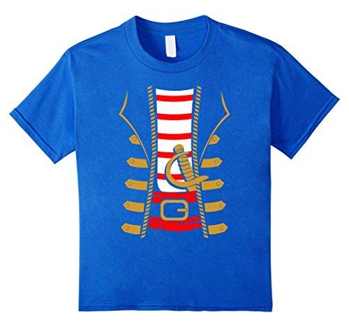 Kids Pirate Costume Shirt - Funny Sword Buccaneer Sailer Gift Tee 8 Royal Blue
