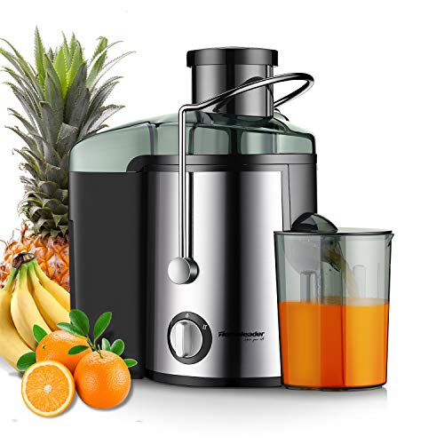 Juicer Juice Extractor, Homeleader Stainless Steel Centrifugal Juicer with 3'' Wide Mouth, for Fruits and Vegetables, BPA-FREE (Best Juicer Without Pulp)