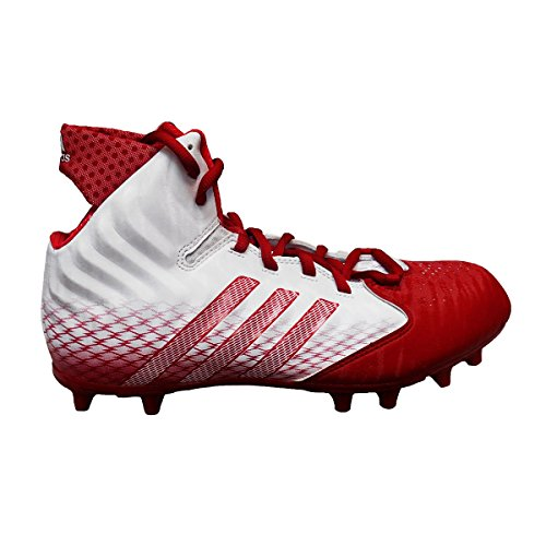 Adidas NastyQuick Wide Football Cleats (13, White/Power Red/Power Red)