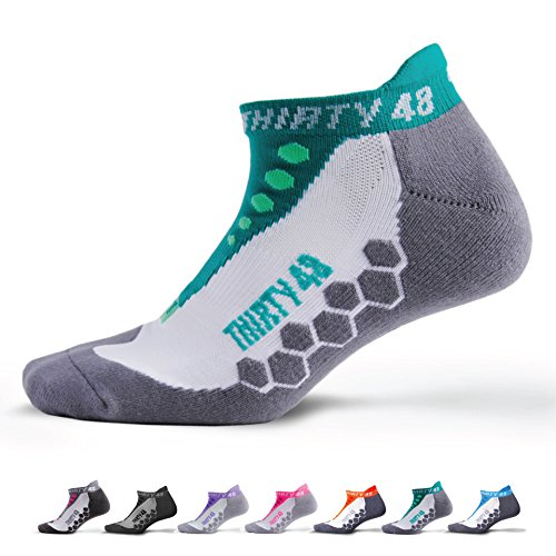 Thirty48 Running Socks Unisex, CoolMax Fabric Keeps Feet Coo