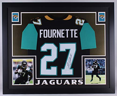 Leonard Fournette Signed Autographed Custom Framed Jersey