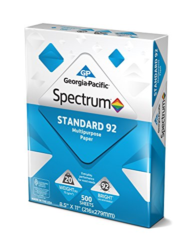 Georgia Pacific 991322R Spectrum Standard 92 Multipurpose 8.5 x 11 500 sheets by Georgia-Pacific