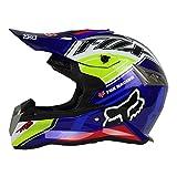 Woljay Dual Sport Off Road Motorcycle helmet Dirt Bike ATV D.O.T certified (XXL, Blue)