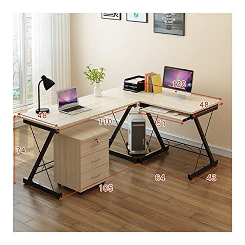 HENG Mesa del Ordenador de Escritorio Home Escritura Curvo Escritorio (Size :