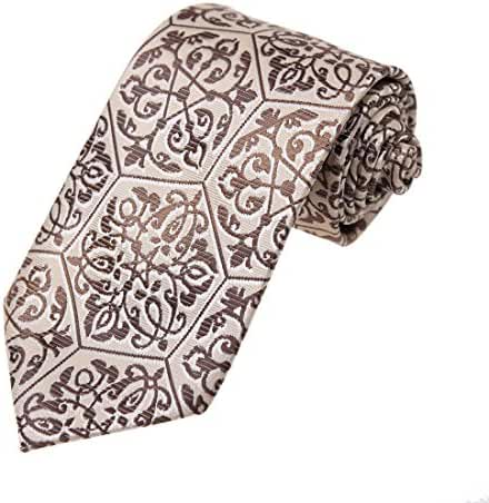DAA7B.04 Happy Patterned Microfiber Neck Tie World Wide Neckwear By Dan Smith