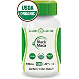 Gelatinized Black Maca Root Powder Supplement - 500mg X 100 Capules (Vegan) - Peruvian Andes - Gluten-free