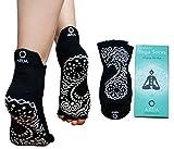 sliding dance step - ARUA Yoga Socks - Non-Slip, Anti-Skid Grip with Bamboo Fiber | Open Toe Design For Barre, Fitness, Bikram, Pilates