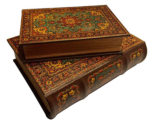 Persian Warriors on Horseback Secret Book Box Set Decorated with Art from Persia