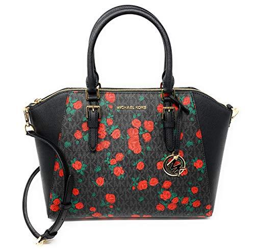 Michael Kors Ciara Large Top Zip Satchel Bag - Floral - Zip Michael Satchel Kors Top