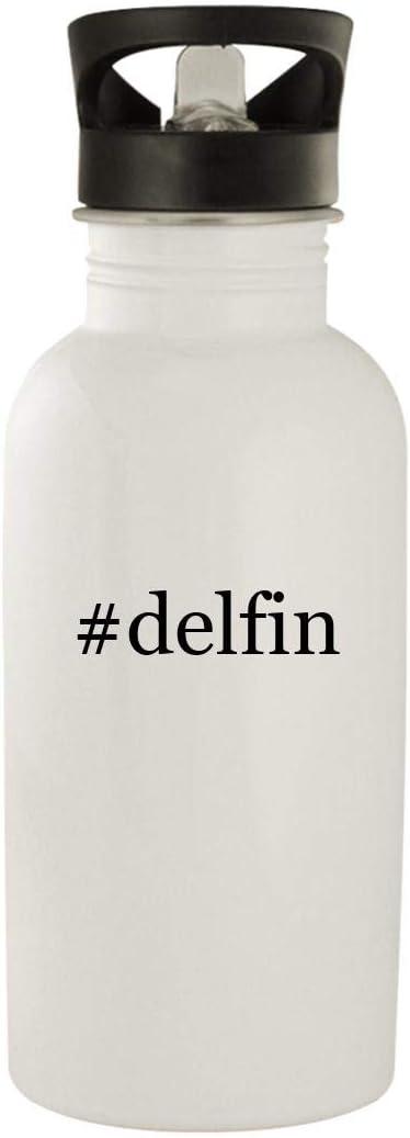 #delfin - Stainless Steel Hashtag 20oz Water Bottle, White