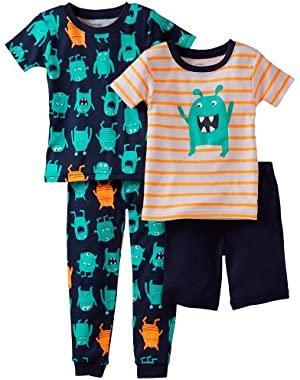 Carters Baby Boy 4-pc. Monster Pajama Set 24 Mo Navy