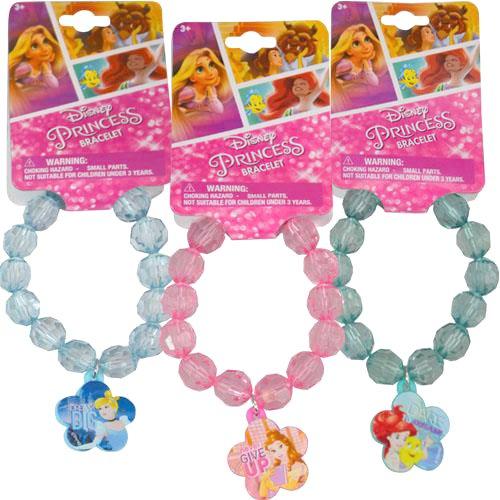 [ Total 3 ct ] Bracelets for gift, party favors etc. (Disney Princess: Cinderella / Belle / Ariel)