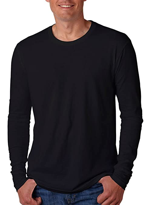 Image Unavailable. Image not available for. Color  Next Level N3601 Mens  Premium Fitted Crew Tee Black ... 216eeca877f99