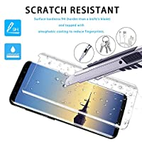 Galaxy Note 8 Screen Protector, Etmury Full Coverage Tempered Glass 3D Curved HD Anti-Bubble Film Screen Protector for Samsung Galaxy Note 8 from Etmury