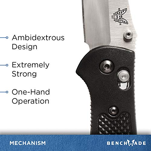 Benchmade - Griptilian 551 Knife with CPM-S30V Steel, Drop-Point Blade, Plain Edge, Satin Finish, Black Handle by Benchmade (Image #4)