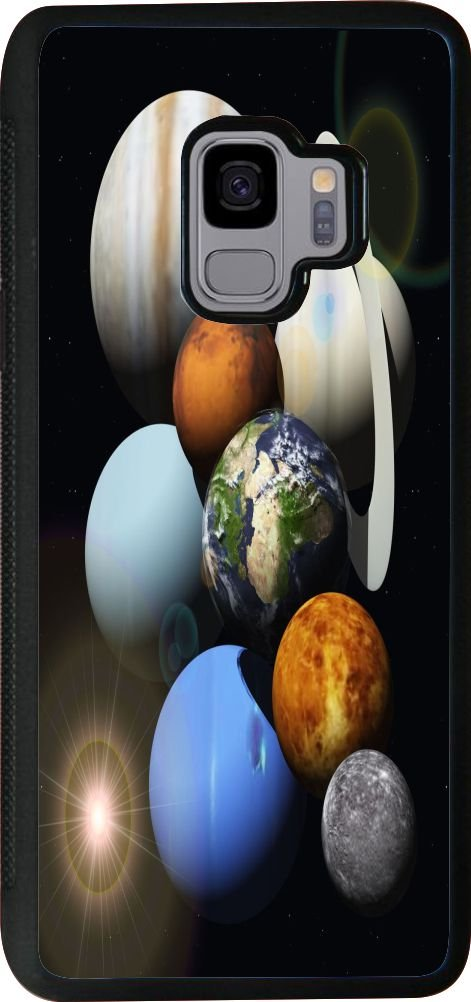 Rikki Knight Cell Phone Case for Galaxy S9 - Solar System Planets Design
