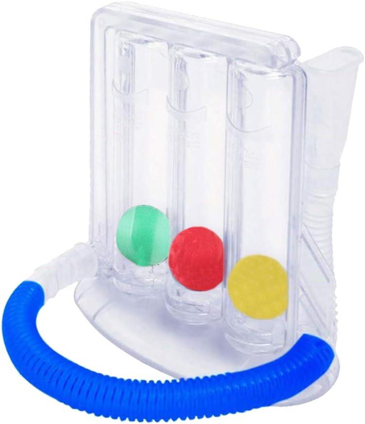Milageto Ejercitador de respiración profunda de 3 bolas mejora de la función de la respiración profunda entrenador respiratorio