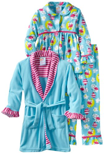 Baby Bunz Little Girls'  Cow Over The Moon Three Piece  Pajama Set