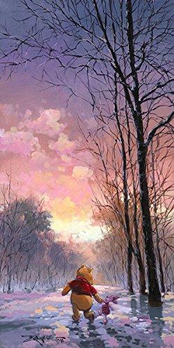 Disney Fine Art Giclee Snowy Path Hand Signed by Rodel Gonzalez by Disney Fine Art
