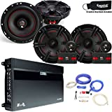 """MB Quart Speaker package - ZA2-1600.4 Amp, a Pair of XC1-216 6.5"""" Components, a pair of XK1-116 6.5"""" Coaxials & Wire Kit"""