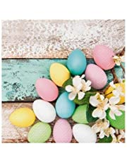 """Paw Decor Collection Easter Party Napkins - 20 Soft Triple-Ply Paper Napkins Pastel Easter Eggs - 13"""" x 13"""""""