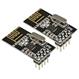 Aideepen 2pcs Wireless Transceiver Module NRF24L01+ 2.4GHz Antenna for Arduino