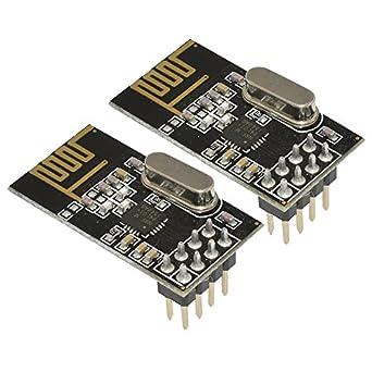 aideepen – Módulo transceptor inalámbrico NRF24L01 + 2,4 gHz Antena para Arduino