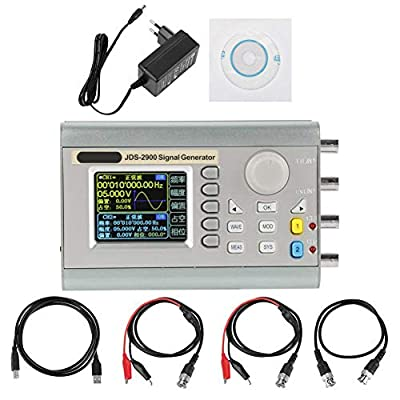 JDS2900 DDS Signal Generator Counter, 15MHz 30MHz 40MHz 50MHz 60MHz High Precision Dual-Channel Arbitrary Waveform Function Generator Frequency Meter 266MSa/s(60MHz)