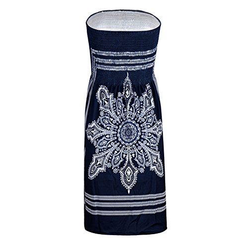 Plage Bohme Ethnique 21 de Robe Bretelles de Robe Ete Nu sans Bandeau Color Style Dos Chic Landove qEUBnRwxvU